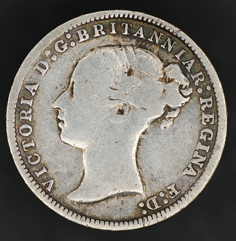 Victoria. (Young head) Threepence. 1874