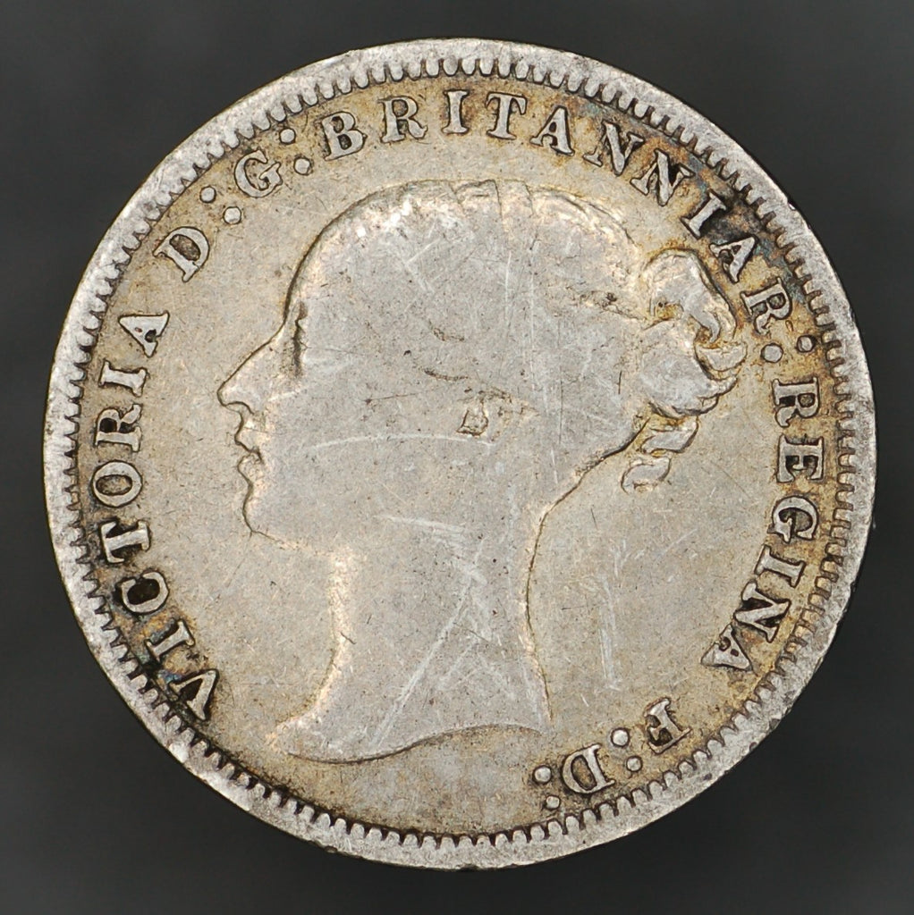 Victoria. (Young head) Threepence. 1877