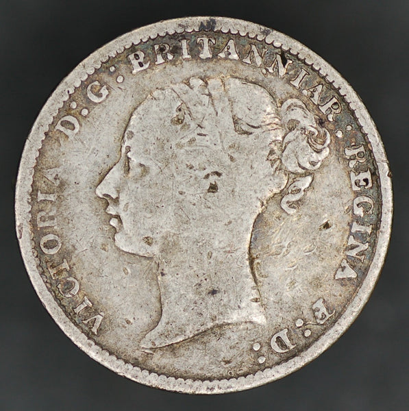 Victoria. (Young head) Threepence. 1882