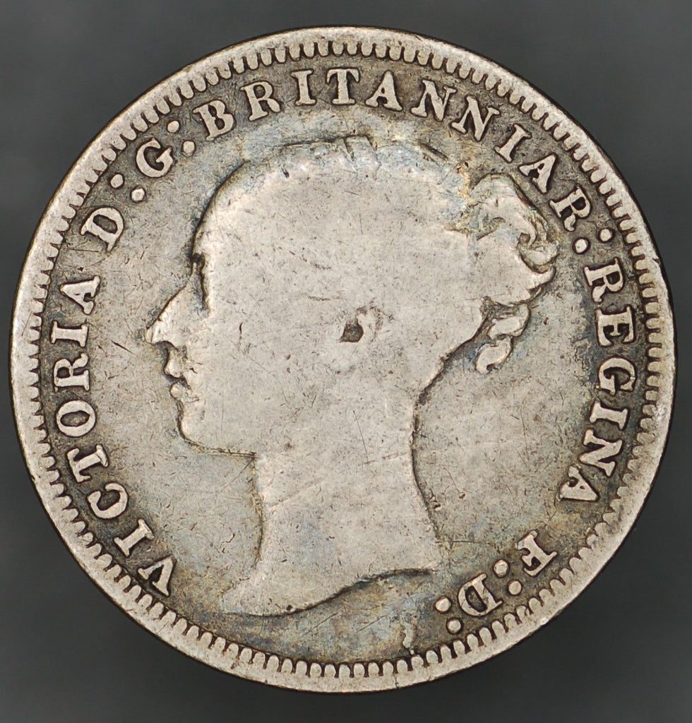 Victoria. (Young head) Threepence. 1875