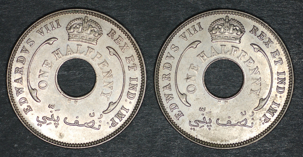 British West Africa. Half penny. 1936