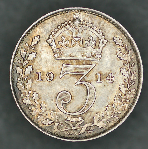 George V. Threepence. 1914
