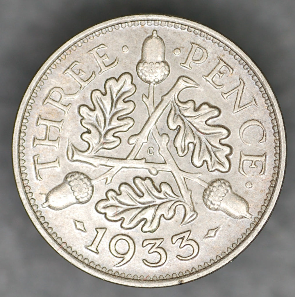 George V. Threepence. 1933