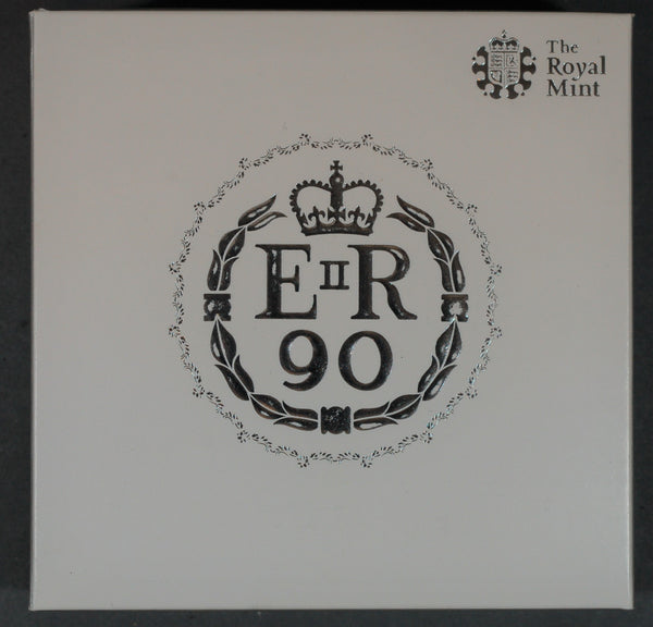 Elizabeth II. 90th birthday. Proof silver 5 pounds. 2016