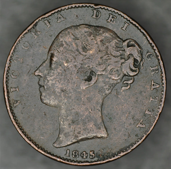 Victoria. Farthing. 1845
