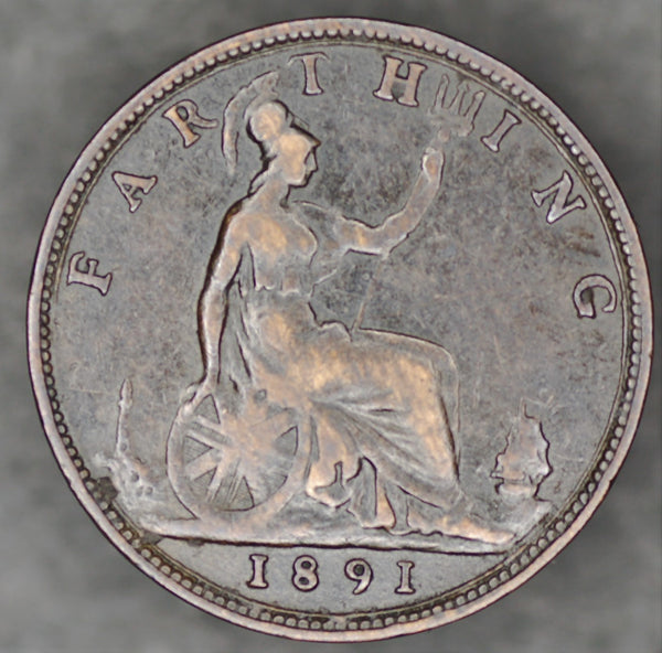 Victoria. Farthing. 1891