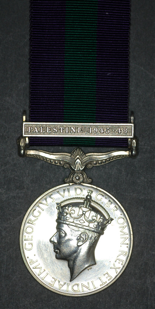 General Service Medal. Palestine 1945-48. Maltby