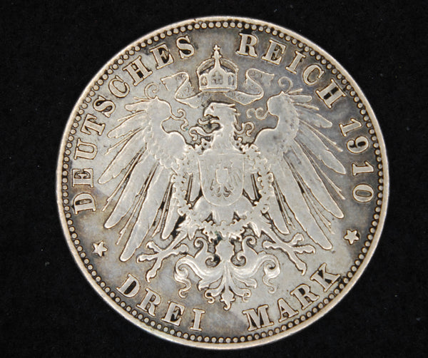 Germany. 3 Marks. 1910 D