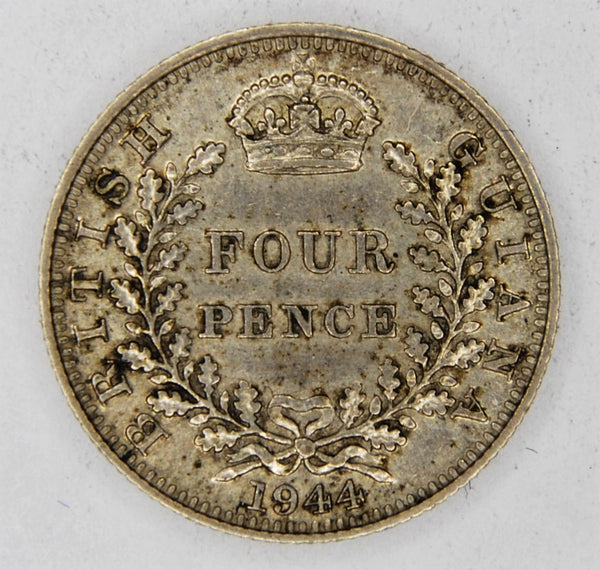 British Guiana.  Four pence. 1944.