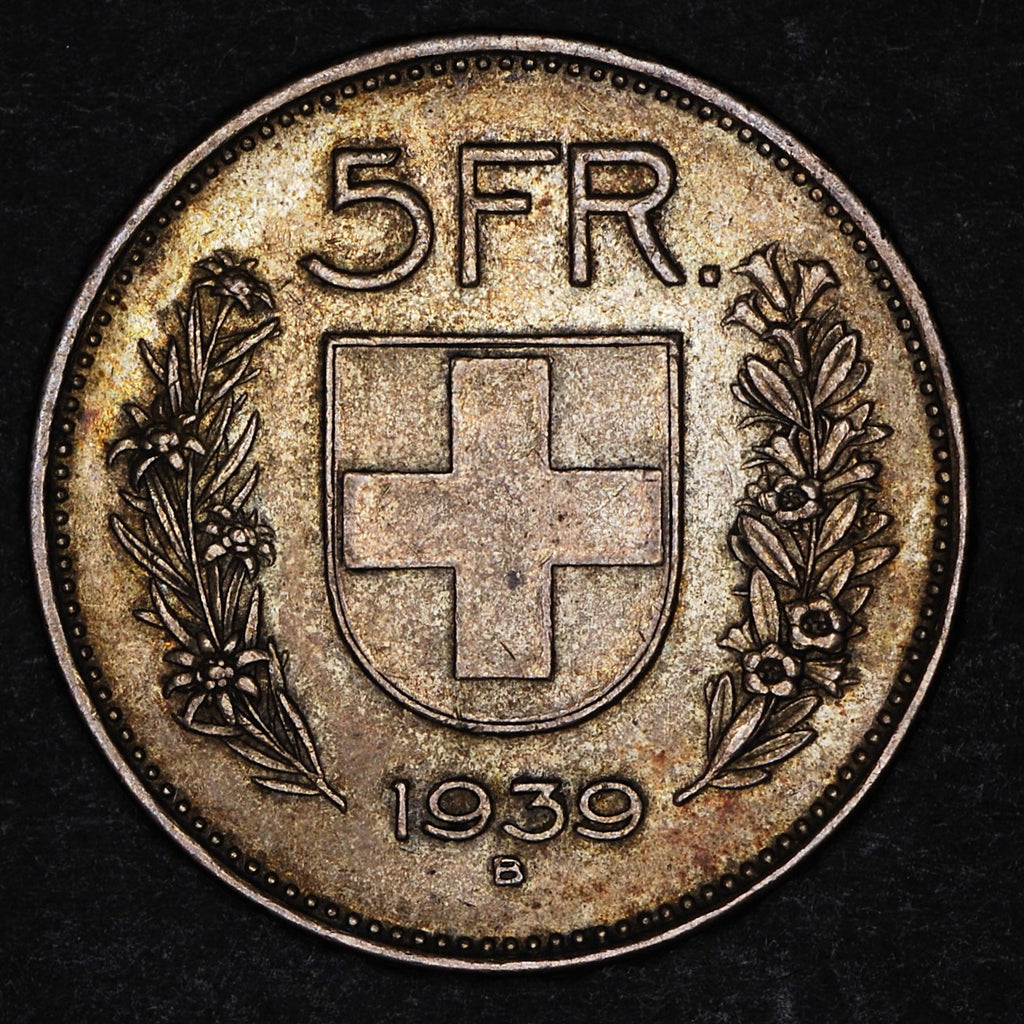 Switzerland. 5 Franks. 1939B