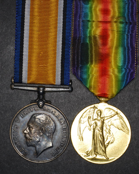 WW1. War medal & Victory medal to E. Stokes. Worcestershire regt. Inc 'Soldiers Small Book'