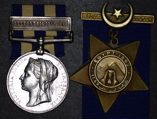 Egypt medal 1882 & Khedives star 1882.