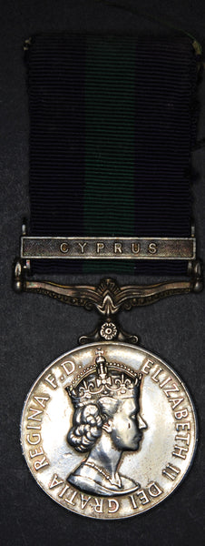 General service medal. Cyprus bar. Royal Engineers.