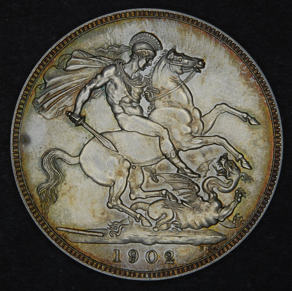 Edward VII. Crown. Matt proof.