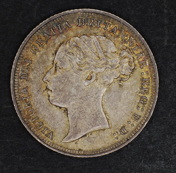Victoria. Sixpence. 1887 Young Head