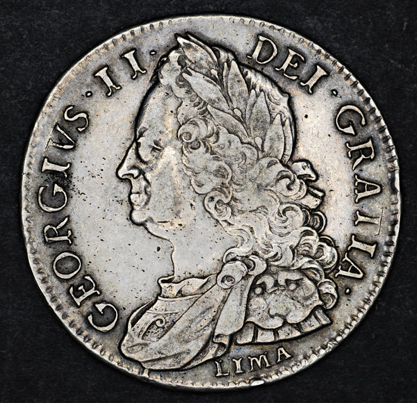 George II. Halfcrown. 1746 Lima.