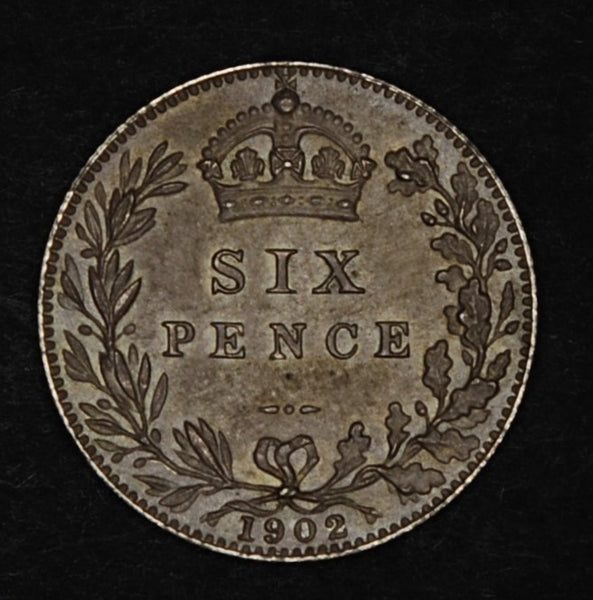 Edward VII. Sixpence. 1902. Matt Proof.