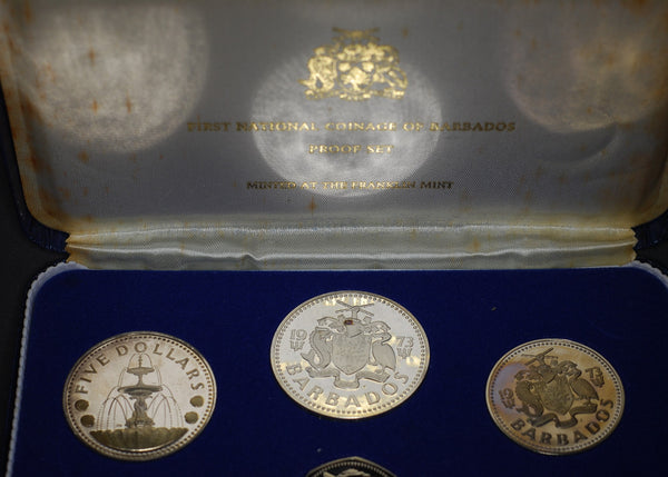Barbados Proof set 1973. First national coinage.