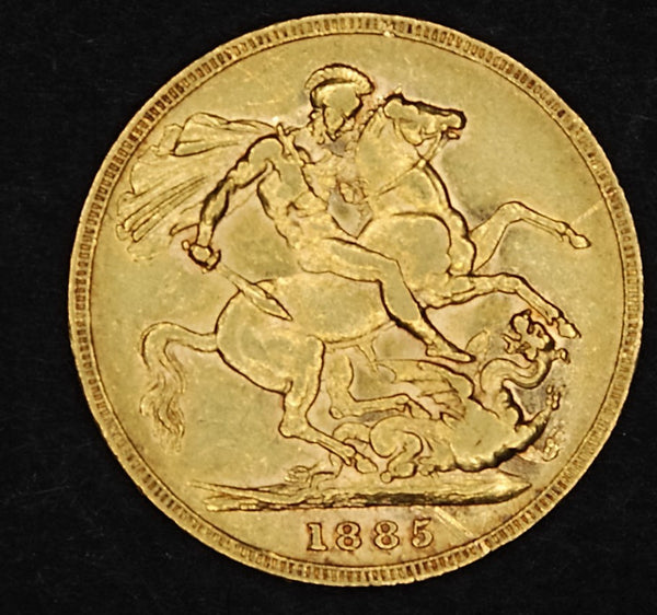 Victoria. Sovereign. 1885