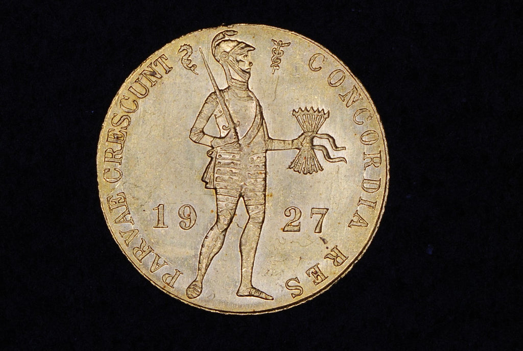 Netherlands gold ducat. 1927.