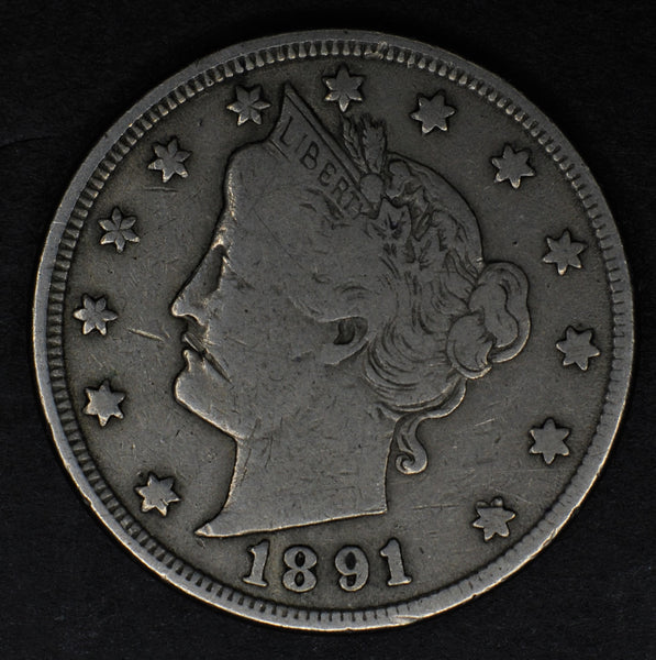 USA. 5 Cents. 1891