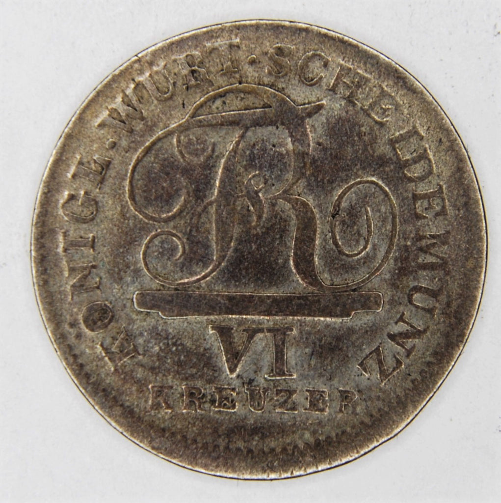 Germany, Wurtemburg. 6 Kreuzer. 1811.