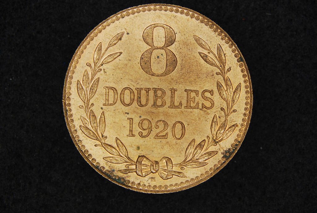 Guernsey. 8 Doubles. 1920H.