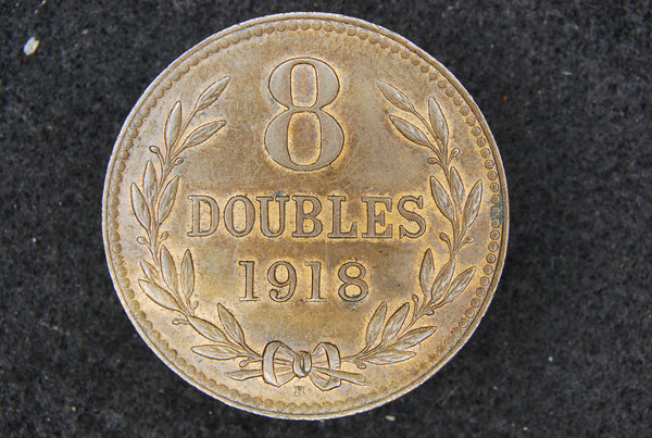 Guernsey. 8 Doubles. 1918H.