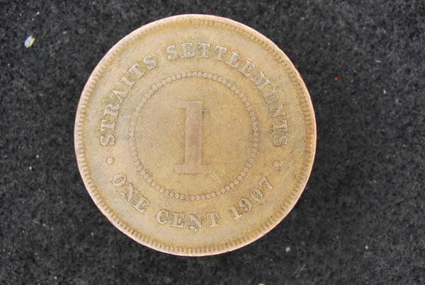 Straits Settlements. One cent. 1907.