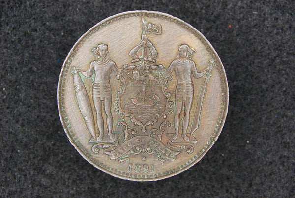 British North Borneo. One cent. 1891H.
