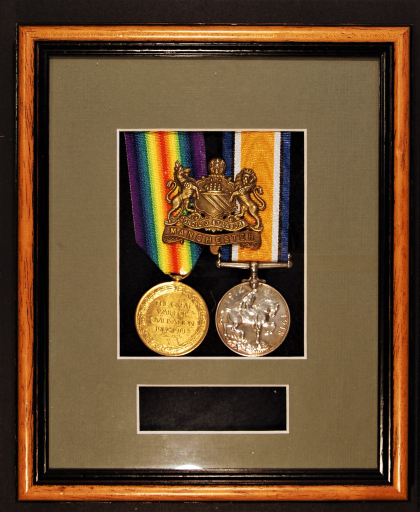 Medal display frame. 1 or 2 medals.