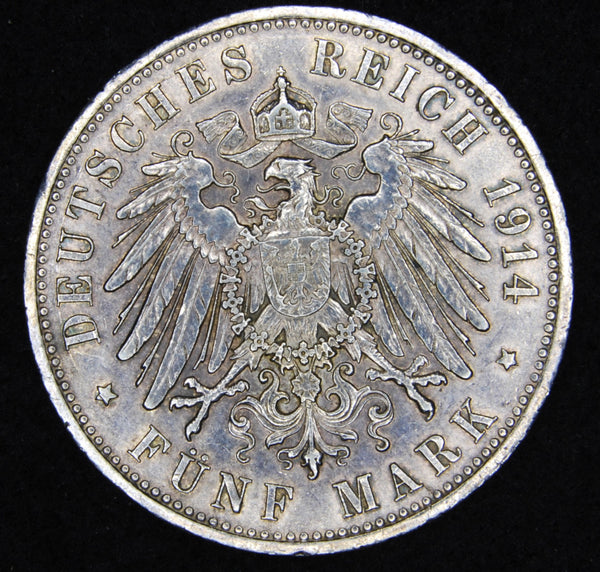 Germany. 5 Marks. 1914.