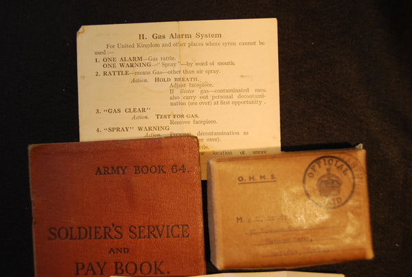 WW2 group of 5 & associated items.