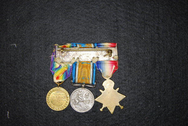 WW1 trio contemporary dress miniatures.