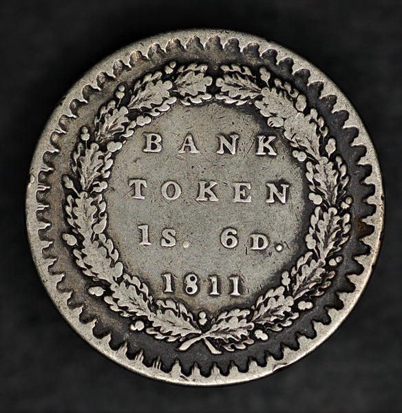 Bank of England. One Shilling & 6 Pence bank token. 1811.