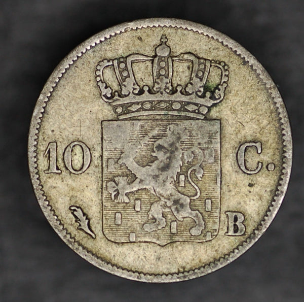 Netherlands. 10 Cents. 1827B