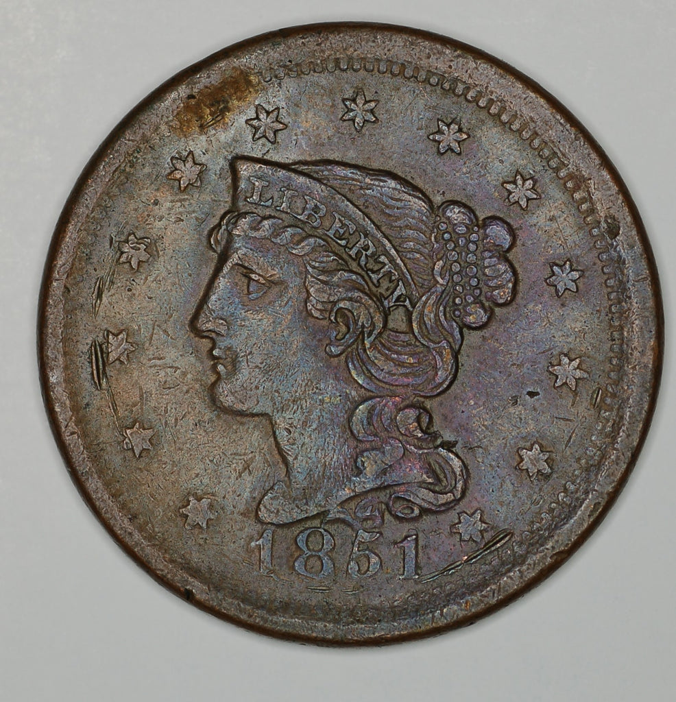 USA. One Cent. 1851