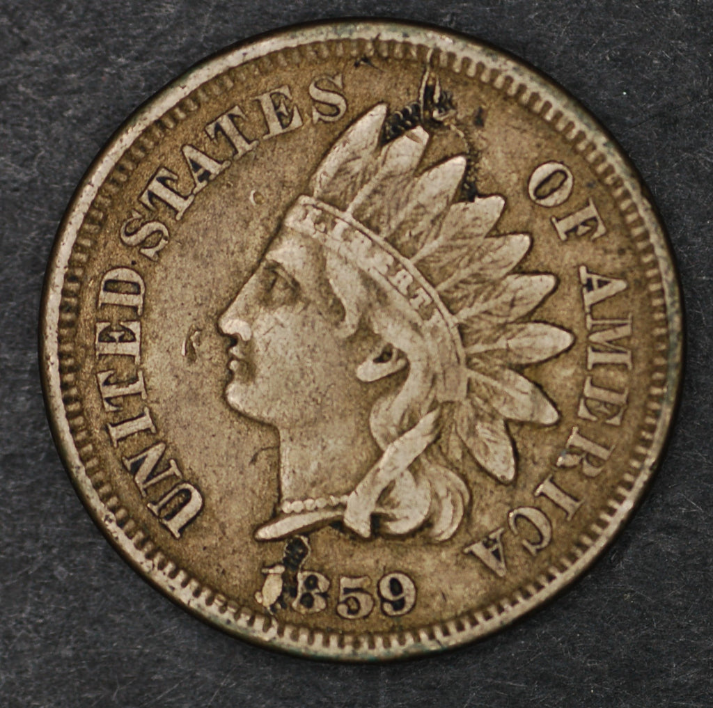 USA. One cent. 1859.