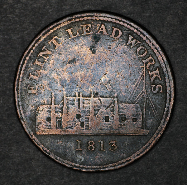 Flint Lead Works. One Penny token. 1813
