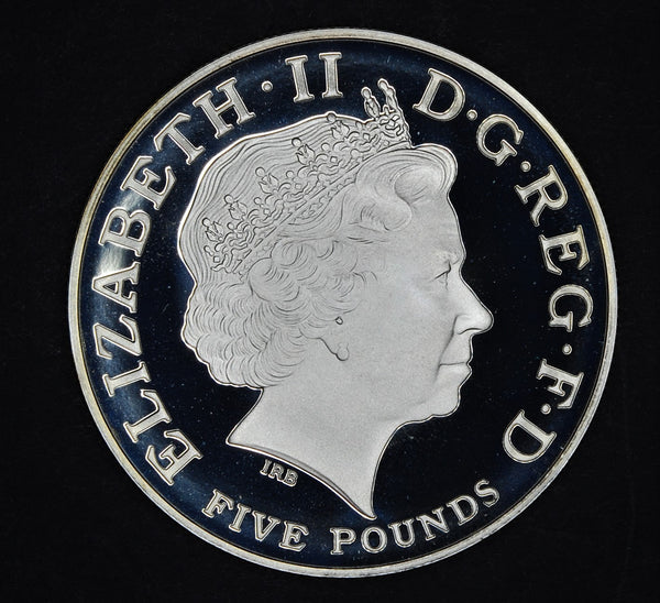 Elizabeth II. 5 pounds. 2009. Silver proof