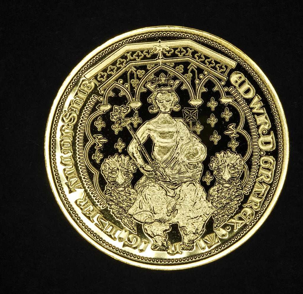 Edward III Double Leopard Hallmarked Gold/ SILVER PROOF Millionaires Collection