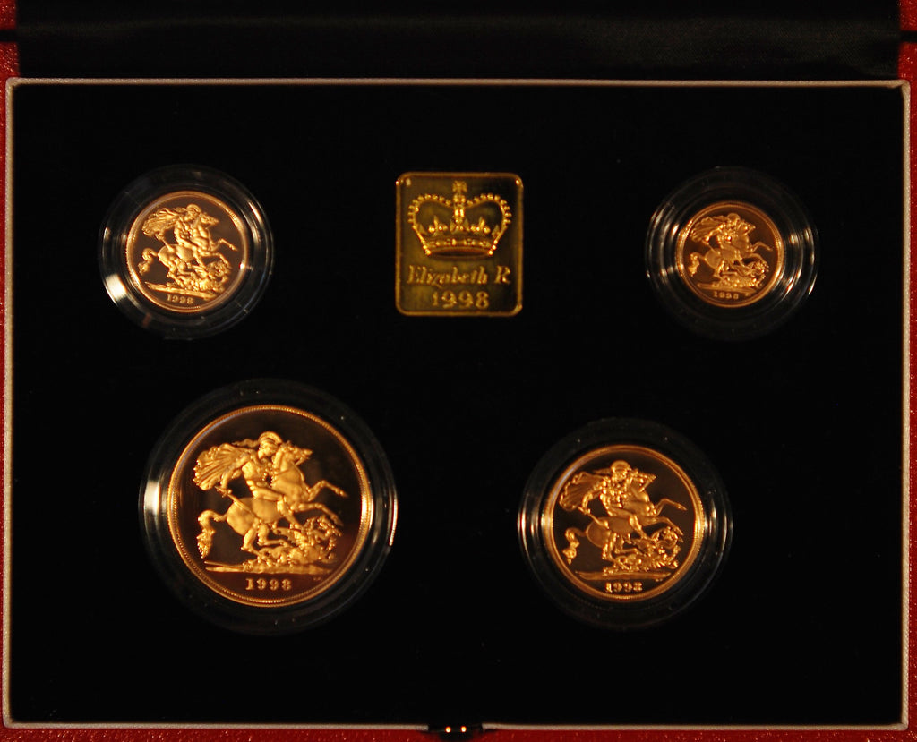 1998 gold proof set. £5 down