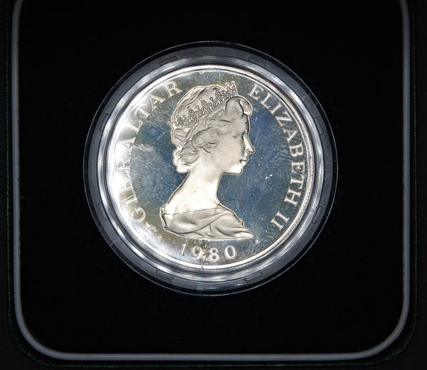 Gibralter. Crown. 1980. Silver proof.