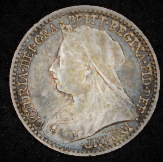 Victoria. Maundy penny. 1893.