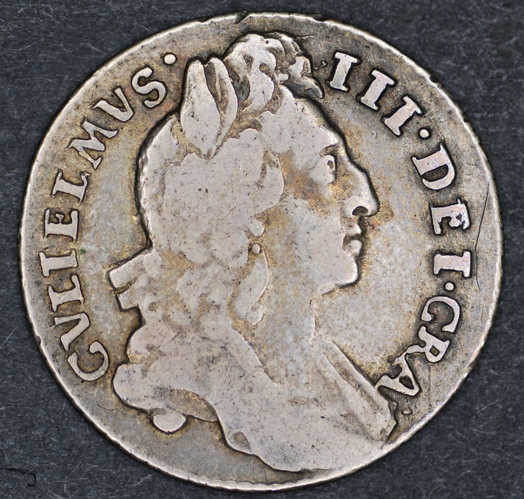 William III. Sixpence. 1696
