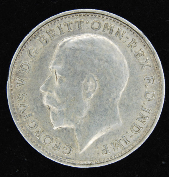 George V. Threepence. 1914.