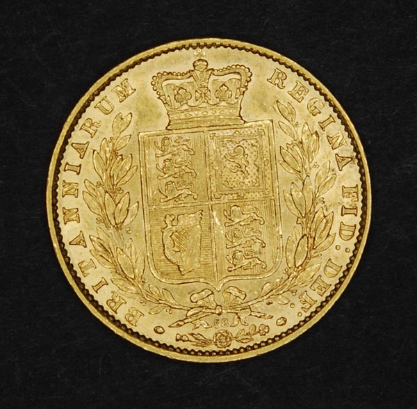 Victoria. Sovereign. 1866 shield back.