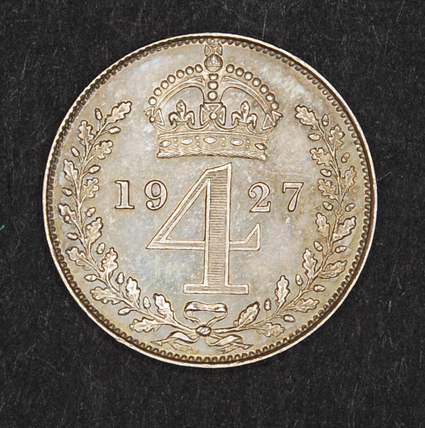 George V. Maundy Fourpence. 1927