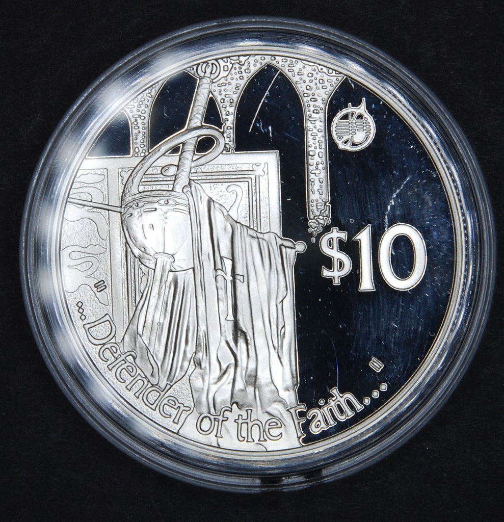 Fiji. Silver proof 10 dollars. 2002