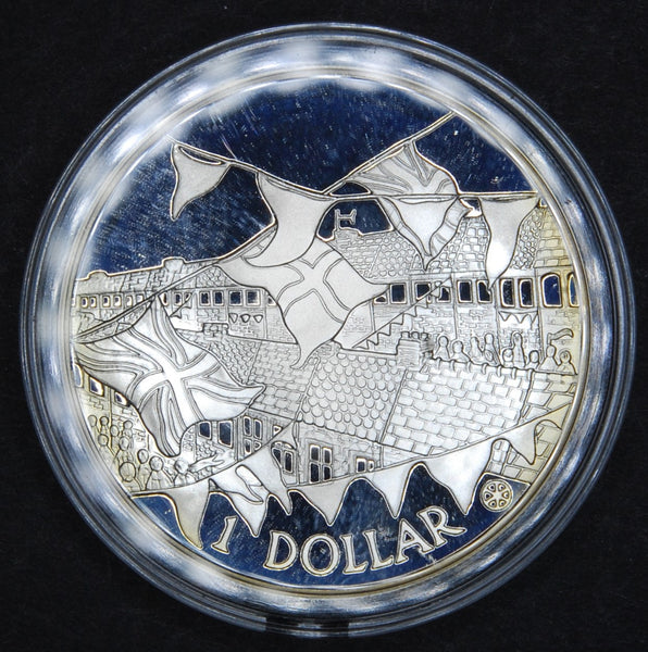 Cook Islands. One Dollar silver proof. 2002